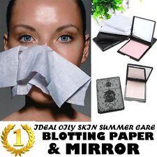 Face Blotting Paper Oil Skin Control Makeup Absorbing Facial Clean Mirror Case