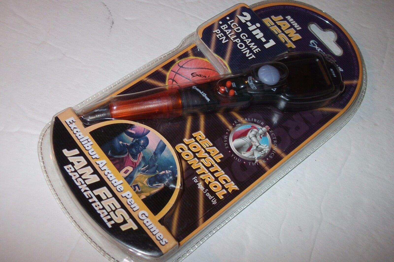 NEW Excalibur Mini Jam Fest Basketball LCD Arcade Pen Game - Sealed - FREE SHIP