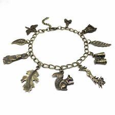 Animal Wildlife Nature Bird Watcher Bronze Ladies Charm Bracelet Gift Squirrel
