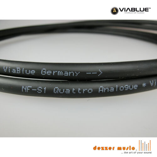 High End Bestnote Stereo ViaBlue Cinch-Kabel NF-S1 Silver Quattro T6s