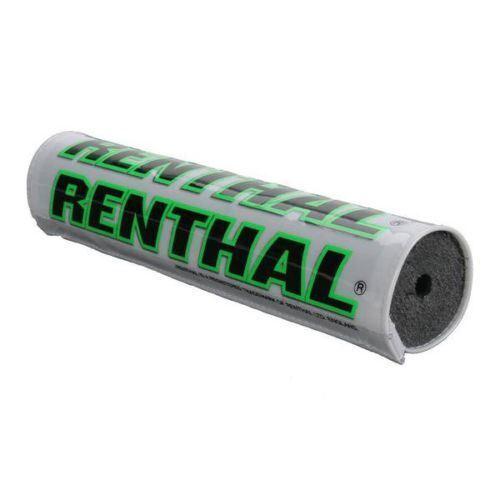 "Renthal Motocross Handlebar Bar Pad White//Green 10/""//240mm Kawasaki KX//KXF MX"