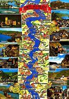 Der Rhein von Mainz bis Koblenz , Ansichtskarte , gelaufen