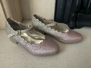 Rose Gold Glittery Shoes Size