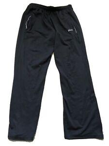 Asics-Athletic-Warm-Up-Tracksuit-Jogging-Pants-Black-Men-039-s-M