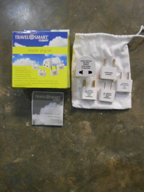 Travel Smart U00ae Polarized Adapter Plug 5pc Set Model  M500e  Ec4