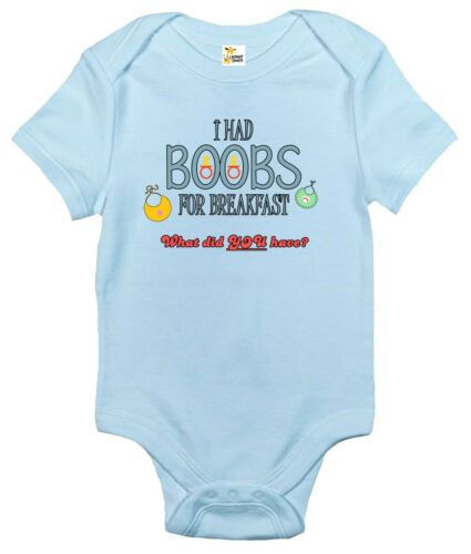 I Had Boobs For Breakfast What Did You Have Baby Clothes Baby Bodysuit