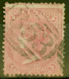Mauritius-1860-4d-Rose-SG48-Bon-D-039-Occasion