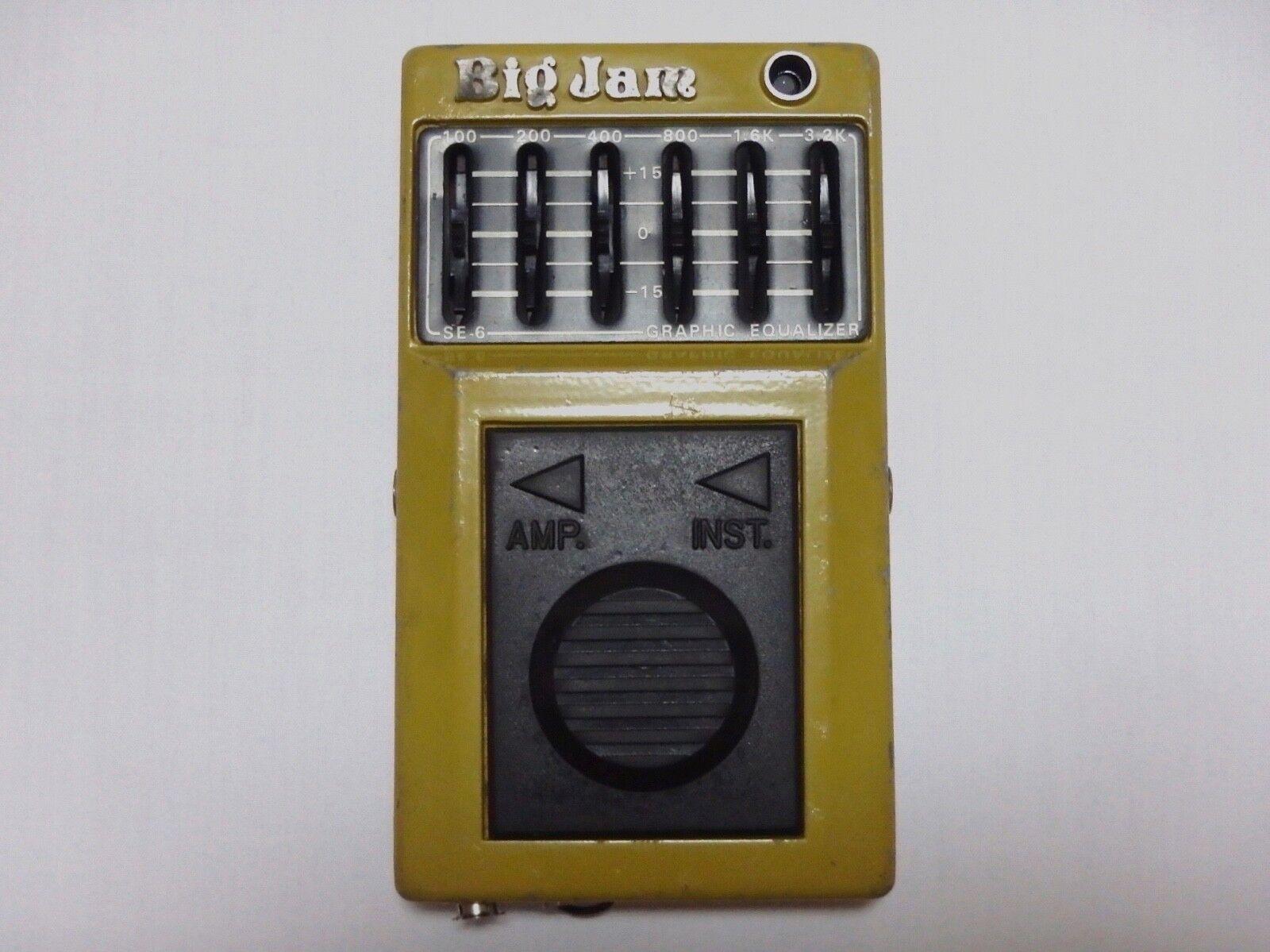 Vintage BigJam SE-6 Graphic Equalizer EQ Guitar Effect Pedal Big Jam