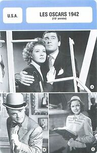 FICHE-CINEMA-USA-LES-OSCARS-1942-15-e-annee