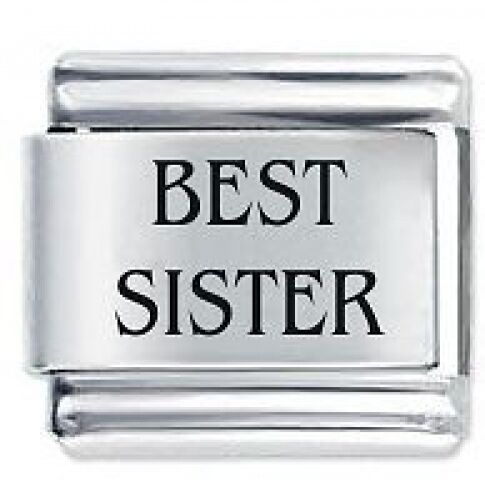BEST SISTER Family - Daisy Charms Fits Nomination Classic Italian Charm Bracelet