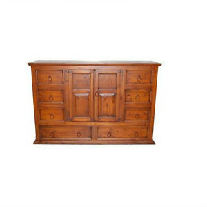 Rustic Estate Dresser Western Cabin Lodge Real Solid Wood
