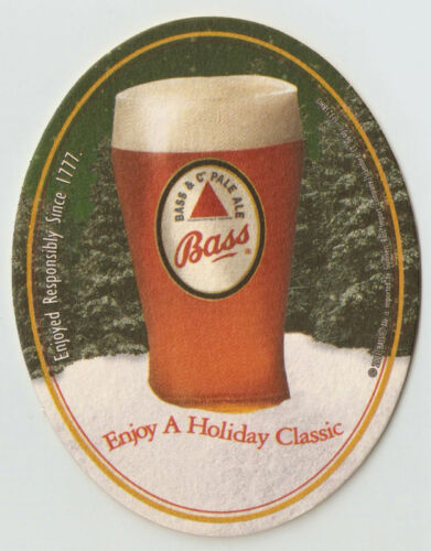 16 Bass Ale  Enjoy A Holiday Classic  Beer Coasters