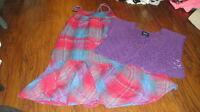 GAP KIDS M 8 PLAID DRESS SHRUG SET GIRLS