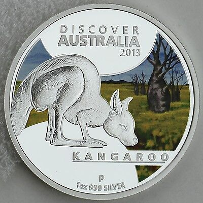 Discover Australia 2006 Ayers Rock Uluru $1 Pure Silver Color Proof in Full OGP
