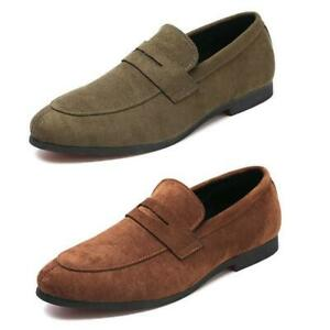 New-Mens-Faux-Suede-Casual-Driving-Loafers-Moccasins-Slip-on-Shoes-Plus-Size