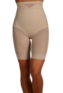 Miraclesuit Womens Nude Sheer Shaping Hi Waist Thigh Slimmer Sz L 4709