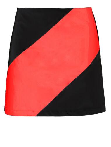 Damen Mode PU Hochglanz Kunstleder kurzer Minirock Party Größe 8 10 12 14