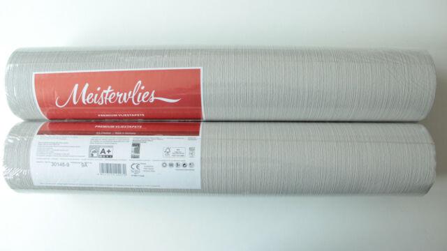 2 Rollen AS Vliestapete,Fleece Royal Creme,Grau,Silber 0,89€//M 96189-1-4A