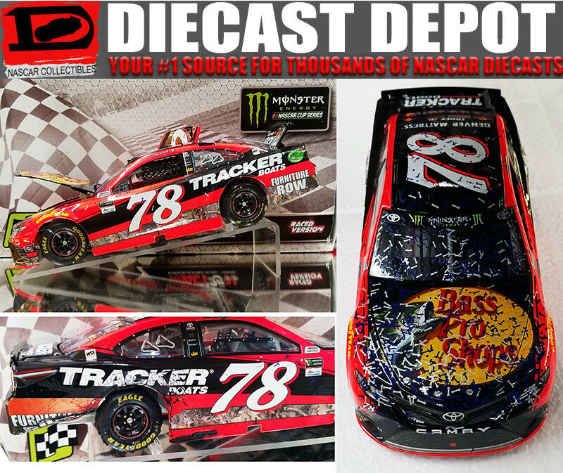 MARTIN TRUEX JR 2017 LAS VEGAS WIN RACED VERSION BASS PRO SHOPS 1 24 ACTION