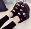 Womens-High-Platform-Peep-Toe-Hidden-Wedge-Heel-Sandals-Hollow-Out-Roman-Shoes thumbnail 5