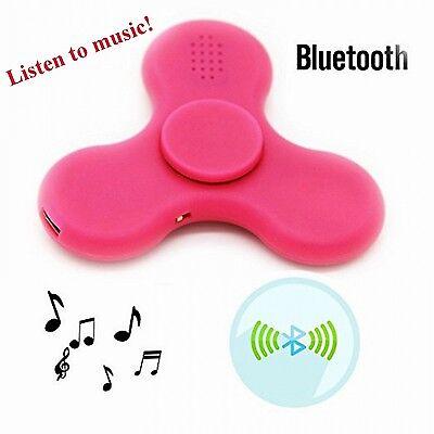 Seller 2x Bluetooth Music LED Light Fidget Hand Spinner Tri Finger US Green