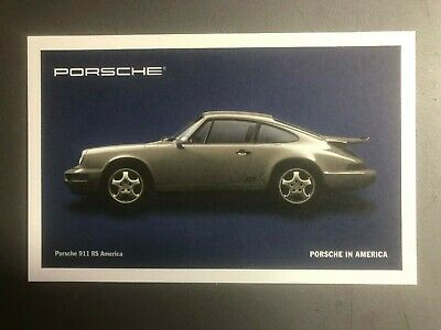 PORSCHE FACTORY ISSUED 911 991 CLUB COUPE METAL POSTCARD NEW SEALED UNUSED 2013