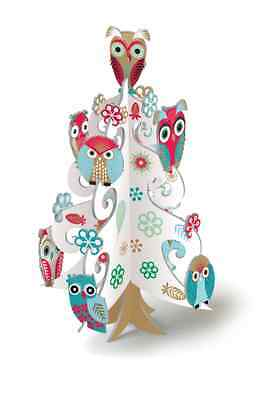 *ROGER LA BORDE*Weihnachten*3D*Creativ Set*Pop/&Slot*Owl Tree*Eulenbaum*