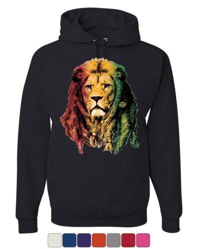 Rasta Lion Jah Hoodie Smoking 420 Dreads Reggae Jamaica Weed Sweatshirt