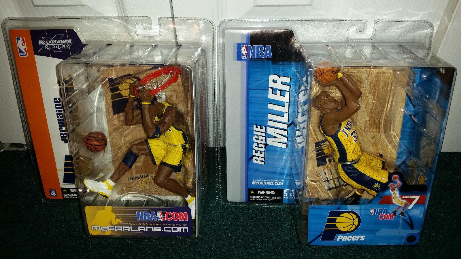 Reggie Miller Variant Jermaine O'neal NBA 7 4 Indiana Pacers Gelb Jersey MISP