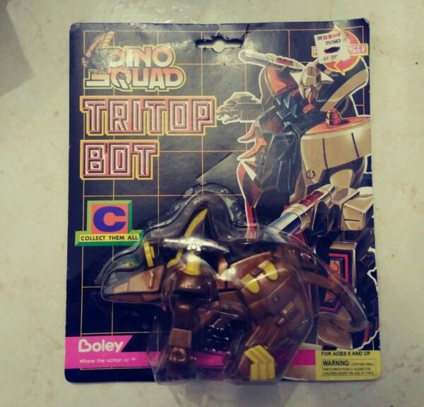 1994 Dino Squad Tritop Bot Robot Tramsformer New In Package Par Boley Rare