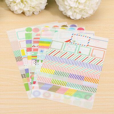 6pcs Simple Life Calendar Paper Sticker Scrapbook Calendar Diary Planner Decor