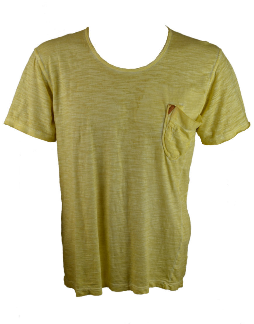 Pearly König Herren Dick T-Shirt Zitrone (Pkts077)