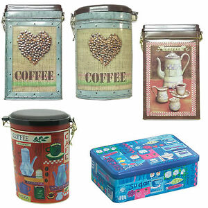 Coffee Tins Storage Canisters Various Containers Retro Jars VJ NEW