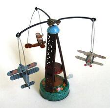 Tin Toy Merry go Round WW1 Planes Airplanes Plane Retro Biplane Airplane