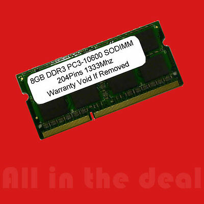 8GB DDR3 SODIMM 1333 MHz PC3-10600 204 pin Laptop Memory RAM Mac Book Pro Apple
