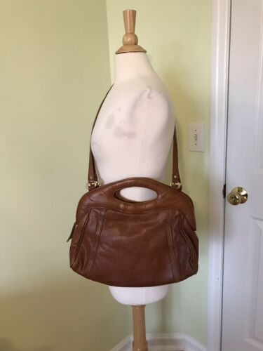 Handbag cuero por Brown de Vintage Productos Vtg Botswana Purse hechos Works Tqp1gZ