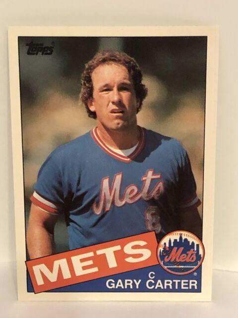1985 Topps Gary Carter Baseball Card New York Mets Mint 17 Traded 1st Nym Card