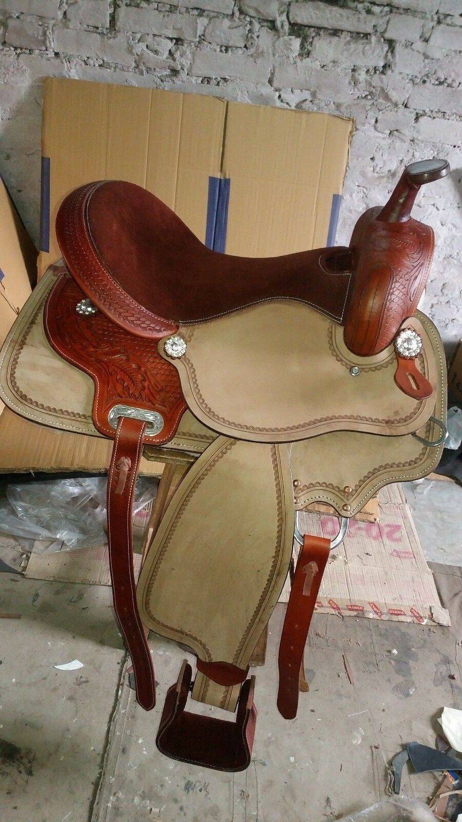 16'' western saddle Double tt Pleasure Style Saddle