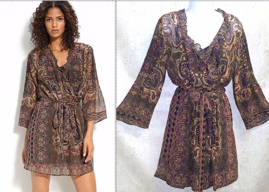 Joie Sarika silk paisley dress sz L NEW
