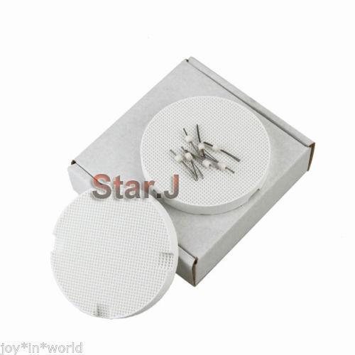 2pcs Dental Lab Honeycomb Round Firing Trays 72mm With 10pcs Amann Girrbach  Pins