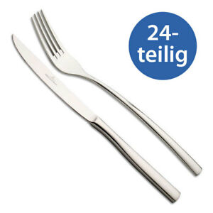 Villeroy-amp-Boch-Piemont-Steakbesteck-24tlg-Grillbesteck-fuer-12-Personen