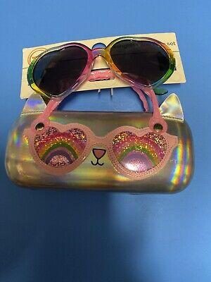Wonder Nation Glitter Fox Sunglass /& Case Set for Girls NEW Wal-mart
