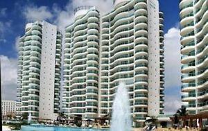 Departamento en venta 3 recamaras en Residencial Bay View Grand Cancun zona hotelera