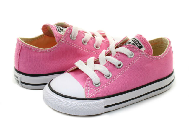 77a34fe6756d Converse Low Top All Star Ox Baby Boy Girl Toddler Infant Pink Shoes All  Sizes