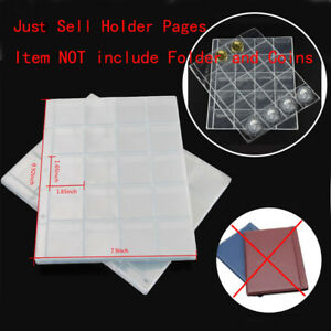 10 Page Coin Holder Collection Storage Money Penny Pocket Album Collecting Pages