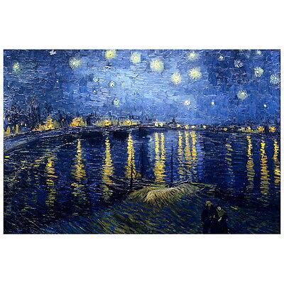 "Van Gogh Starry Night Over Rhone 2/"" x 3/"" Refrigerator Locker MAGNET"