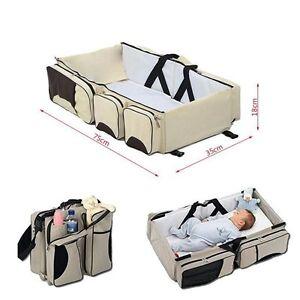 Baby-Reisebett-Babybett-Multi-Babytasche-Klappbett-Tragbar-Bett-Wickeltasche-NEU