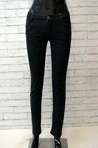 Pantalone-Nero-Vita-Alta-Donna-SIVIGLIA-Taglia-26-Chino-Jeans-Pants-Woman-Slim