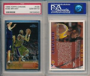 Details About Kobe Bryant Lakers Basketball 1996 Topps Chrome 138 Rookie Card Rc Psa 10 Gem