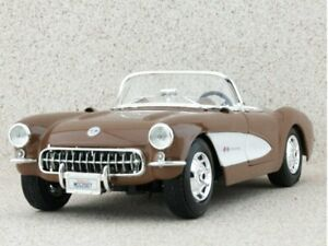 CHEVROLET Corvette - 1957 - brownmetallic - Maisto 1:18